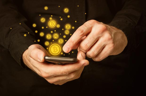 Bitcoin can work at any time and anywhere with an internet connection (stock image)