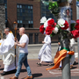 Archbishop Diarmuid Martin leading the Corpus Christi procession in Dublin's North Wall last month