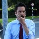 MOCK FIGHT: Eoghan Murphy, Minister for Housing, seems to be spoofing over water shortages by setting out to combat imaginary enemies of the Republic of Opportunity. Photo: Colin Keegan, Collins Dublin