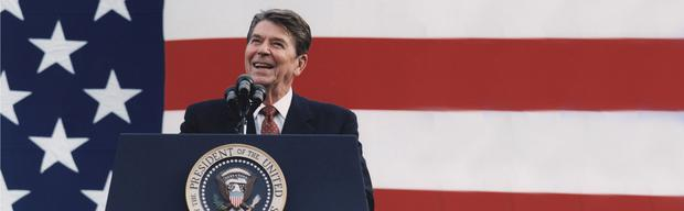 Ronald Reagan, the 40th president of the USA
