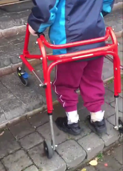 David tenaciously tackling the steps into the one room he shares with his sister and mother. Watch the video on #mynameis