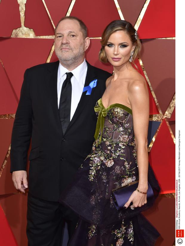Controversy: Hollywood producer Harvey Weinstein, pictured with wife Georgina Chapman, stands accused of sexual harassment against several actresses. Photo: Lovekin/WWD/REX/Shutterstock