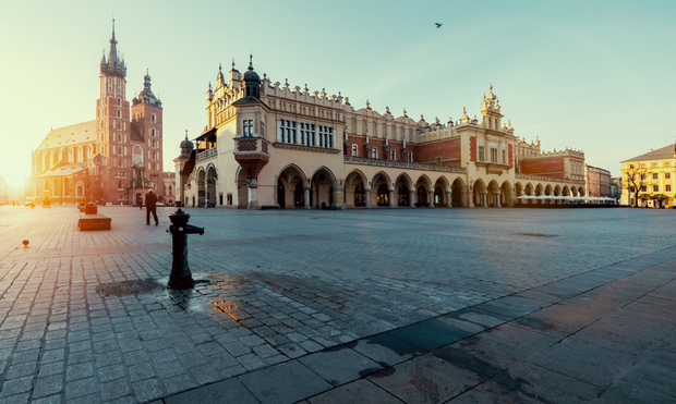 Haunted by its past: Krakow, Poland, is just an hour's drive from Auschwitz, where many died in the Nazi concentration camp