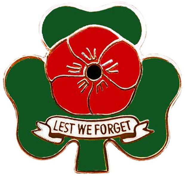 The Royal British Legion's shamrock and poppy badge