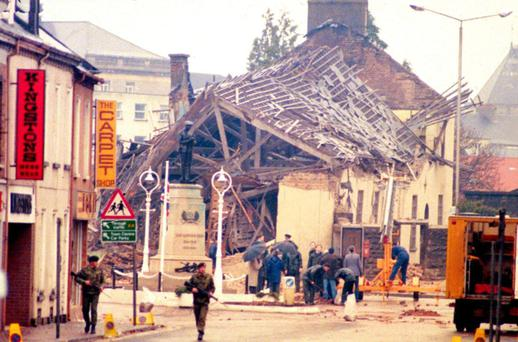 The aftermath of the no-warning Enniskillen bomb