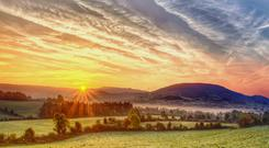 Sunrise over Co Tipperary. Photo: Getty