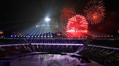 Fireworks are set off during the Opening Ceremony of the PyeongChang 2018 Winter Olympic Games. Photo: Sean M Haffey