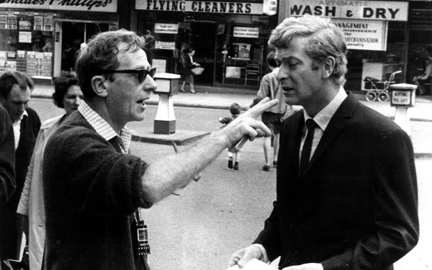 COCKNEY CAPER: Lewis Gilbert directing Michael Caine on the set of 'Alfie' in 1966