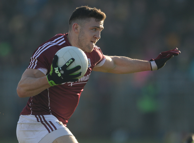 Damien Comer's sheer strength is his greatest asset, and he should be scoring goals. Photo: Sportsfile