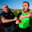 Meath manager Andy McEntee (right) is restrained after confronting the referee following the SF qualifier match against Tyrone last week. Photo: Stephen McCarthy. Photo: Stephen McCarthy