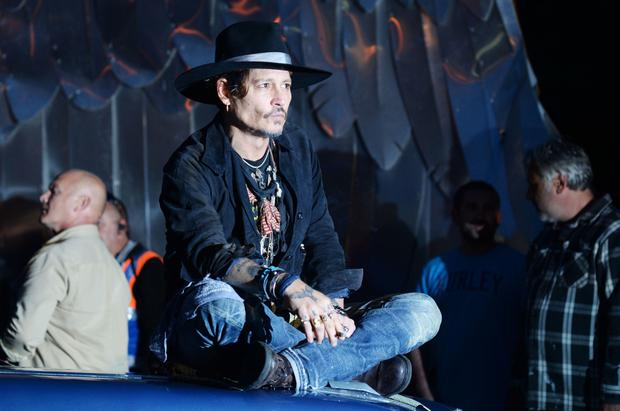 Last man standing: Johnny Depp at Glastonbury festival. Photo: PA