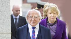 SYMBOLIC ROLE: President Michael D Higgins and his wife Sabina. Photo: Tony Gavin