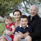 PRINCIPLE: Sean Gallagher with his wife Trish and their children Bobby and Lucy