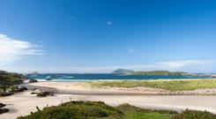 Brendan swam in the beautiful, crystal-clear waters at Derrynane, Kerry