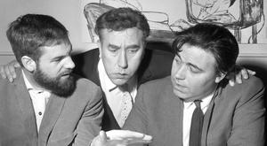 DREAM TEAM: Comedian Frankie Howerd (centre) joins a script conference between Ray Galton (left) and his writing partner Alan Simpson in December 1964. Photo: PA