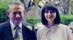 Bairbre with her father Billie Power on her wedding day