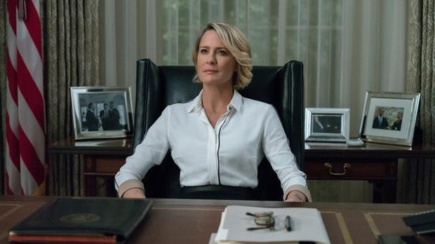 From first lady to president: Robin Wright has stepped up to play the main character in 'House of Cards' in the absence of Kevin Spacey