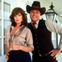 Linda Gray, aka Sue Ellen, with J.R. in Dallas