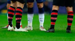 Eric Dier of Tottenham Hotspur wearing rainbow laces during the Premier League match against Southampton on Wednesday. Photo: Catherine Ivill/Getty Images