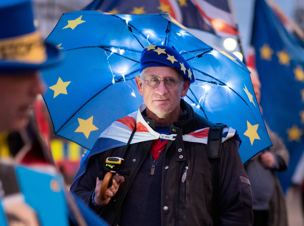 Denial: For some Remainer politicians, fear and panic simply overcome their ability to take decisions. Anti-Brexit protesters outside the Houses of Parliament in London. Photo: PA