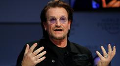 Bono told the summit in Davos, Switzerland, that capitalism was 'a wild beast'. Photo: Reuters