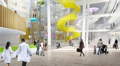 An artist's impression of the atrium in the new National Children's Hospital