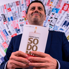 Launch: French journalist Frédéric Martel poses in Rome with his book that investigates homosexuality in the Vatican. Photo: Getty Images
