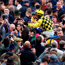 Paul Townend and Al Boum Photo are quite rightly the centre of attention after a stunning performance that saw them win the Cheltenham Gold Cup on Friday. Photo: PA