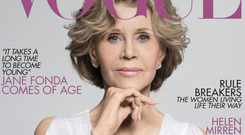 Jane Fonda on the cover of 'The Non-Issue' of British Vogue