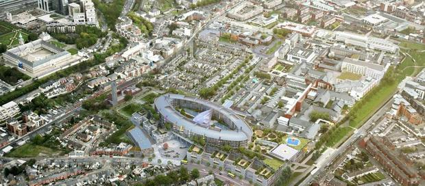 LIVING IN HOPE: An aerial view of what the National Children's Hospital will look like. Eventually...