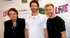 Mark, Howard and Gary of Take That played the 3Arena