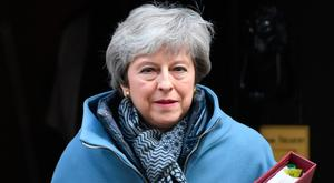 Mrs May is likely to be history by the middle of next month. Photo: PA
