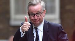Ambitious: Michael Gove, a contender to become Conservative leader and UK prime minister