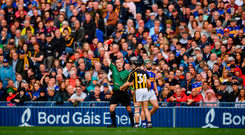 'The general consensus is that James Owens made the right call in dismissing Richie Hogan for a reckless, dangerous and needless challenge on Cathal Barrett.' Photo: Ray McManus