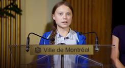 Spotlight: Greta Thunberg. Photo: Reuters