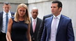 Conspiracy theory: Donald Trump Jr and his ex-wife Vanessa. Photo: Reuters