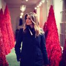 Melania Trump loves flashing her White House decor. Photo: FLOTUS/Twitter