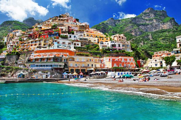 The coast around Positano is rugged, but sun-kissed and seductive