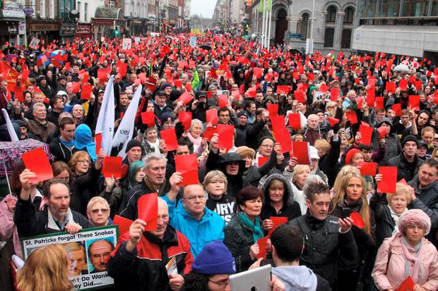March against property tax in Dublin last year