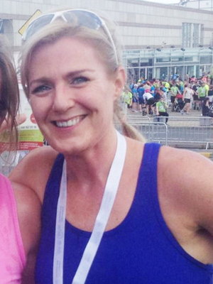 Maria Bailey after completing 'The Bay 10k' in 2015, weeks after the indcident in The Dean