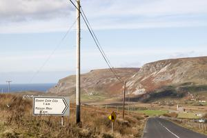 The road to Gleann Colm Cille in the Donegal Gaeltacht