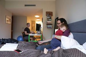 All in it together: Families are being forced to spend much more time together as the Covid-19 crisis has  gathered pace. Photo: Caitlin Ochs/Reuters