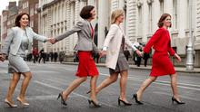 COLLEAGUES: Fine Gael TD's Josepha Madigan, Kate O'Connell, Maria Bailey and Hildegarde Naughton. Photo: Gerry Mooney
