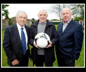 Dunphy and Giles with Liam Brady