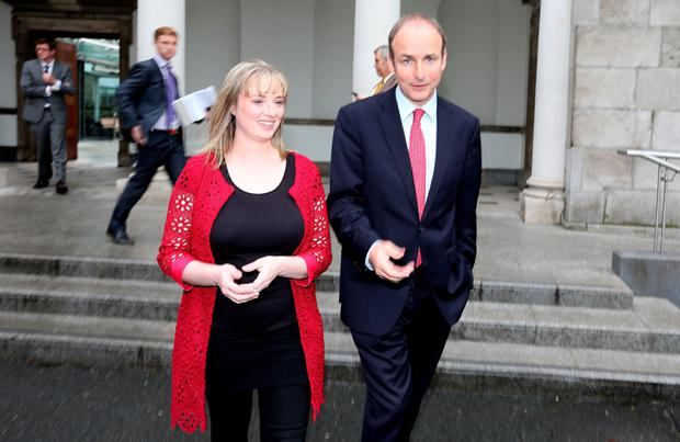 Micheal Martin and Mairia Cahill