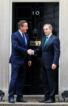 David Cameron and Enda Kenny at a recent meeting: would a Brexit reduce trade between Ireland and the UK?