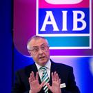 SAVING THE DAY: AIB chairman Richard Pym told shareholders at the Allied Irish Bank's Extraordinary General Meeting in the RDS Concert Hall in Ballsbridge, Dublin, that the bank was repaying its debt to the State. Photo: Colm Mahady / Fennells