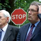 OPPONENTS ON THE SAME TEAM: The then SDLP deputy leader and leader Seamus Mallon and John Hume