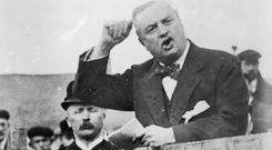 Political campaigner John Redmond addresses the crowds. Photo: Getty