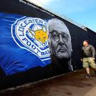 Poster boy: Leicester City manager Claudio Ranieri is a hero in the town after the club's amazing league win